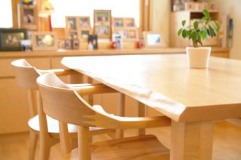 ハードメープル 無垢材テーブル 無垢材チェア  無垢材家具