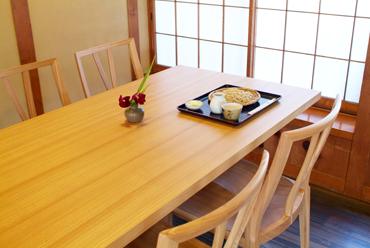 無垢材家具 無垢材テーブル 無垢材チェア タモ