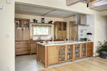無垢材オーダーキッチン チェリー 無垢材家具