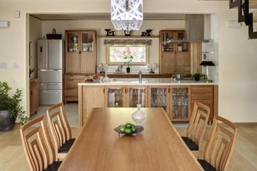 無垢材テーブル 無垢材チェア チェリー 無垢材家具